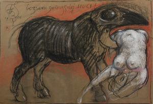 Franciszek STAROWIEYSKI (1930-2009), Bezsens zwierzęcej chuci!, 2006