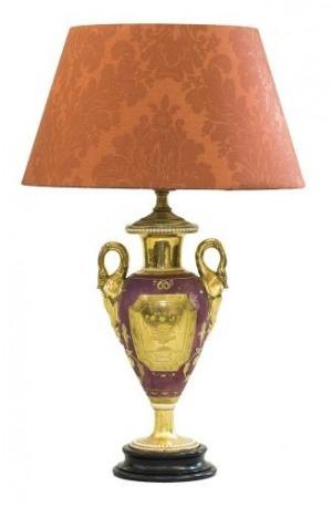 Porcelanowa waza -lampa (A Paris porcelain pink-ground and gilt two-handled vase)