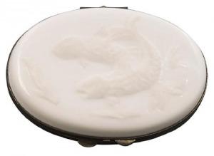 Porcelanowe puzderko (A French probably Limoges porcelain box)