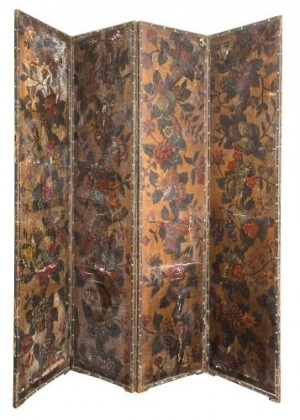 Parawan (A Spanish painted leather four-fold screen)