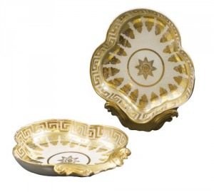 Patery (A pair of gilt leaf-shaped dishes)