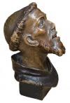 Św. Franciszek (A polychrome painted wood head of Saint Francis in ecstasy)