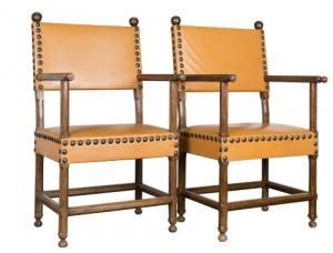 Dwa fotele dębowe (A pair of oak armchairs)