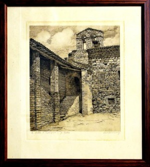 Asyż - dwie grafiki (A pair of two Assisi etchings)