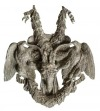 Para aplik (A pair of patinated bronze applied ornaments)