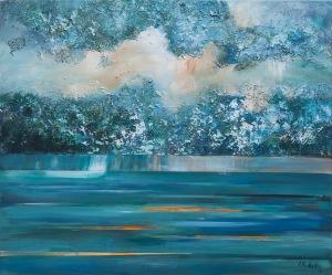 Izabela Rudzka, Clouds and storm 2, 2016