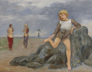 Wlastimil HOFMAN, DZIECKO NA SKALE, 1932