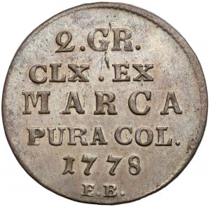 Poniatowski, Półzłotek 1778 E.B. - RZADKOŚĆ