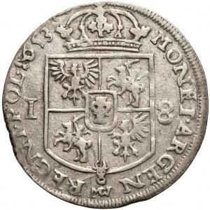 Jan II Kazimierz, Ort Wschowa 1653 - mały portret - rzadki