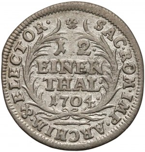 August II Mocny, 1/12 talara 1704 EPH, Lipsk