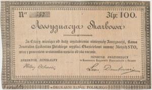 Asygnacja Skarbowa na 100 złotych 1831