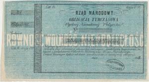 Powstanie Styczniowe, Oblig. tymczasowa 500 złotych 1863