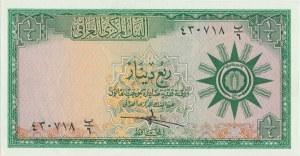 Irak, 1/4 dinar (1959) - bez nitki zabezpieczającej