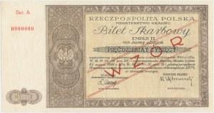 Bilet Skarbowy WZÓR Emisja II - 50.000 złotych 1946