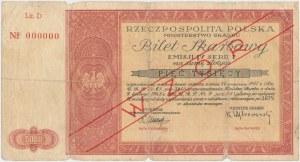 Bilet Skarbowy WZÓR Emisja IV, Seria I - 5.000 złotych 1948