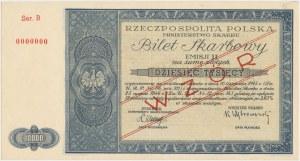 Bilet Skarbowy WZÓR Emisja II - 10.000 złotych 1946