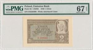 2 złote 1940 - D - PMG 67 EPQ