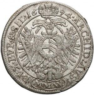 Leopold I, Wrocław, 15 krajcarów 1694 MMW