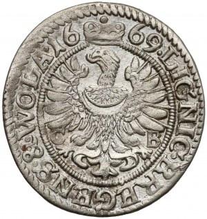 Chrystian wołowski, 3 krajcary Brzeg 1669 CB