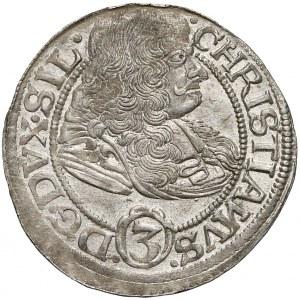 Chrystian wołowski, 3 krajcary Brzeg 1669 CB - SIL/WOLAV