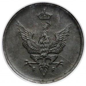 Królestwo Polskie, 1 fenig 1918 - NGC MS62