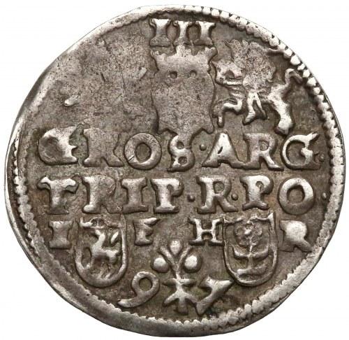 Zygmunt III Waza, Trojak Poznań 1597 - napis w dwóch wierszach