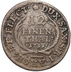 August II Mocny, 1/12 talara 1711 EPH, Lipsk