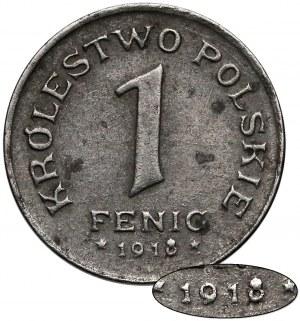 Królestwo Polskie, 1 fenig 1918 stempel jak 1917