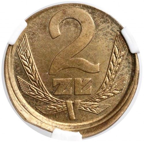Destrukt 2 złote 1983 - niecentryczne bicie