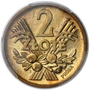 Próba MOSIĄDZ 2 złote 1958 - PCGS SP64