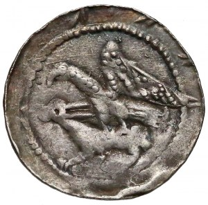 Władysław II Wygnaniec, Denar orzeł i zając