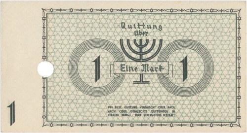 Getto 1 marka 1940 - bez serii, numer 6-cyfrowy - jednokrotna perforacja