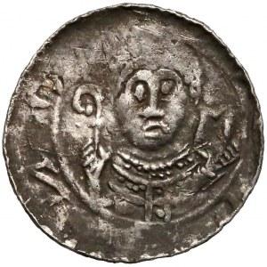 Władysław II Wygnaniec, Denar - Książę i Biskup - N i półksiężyc