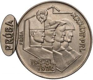 Próba MIEDZIONIKIEL 20 złotych 1974 Górnik, Hutnik... - nakład 24 szt.