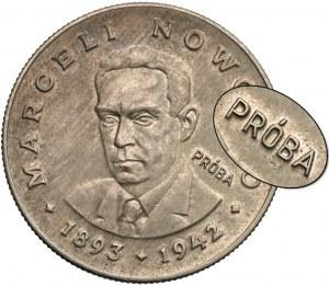 Próba MIEDZIONIKIEL 20 złotych 1974 Nowotko - nakład 20 szt.