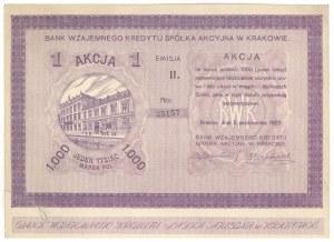 Bank Wzajemnego Kredytu SA w Krakowie, Em.2, 1.000 mkp 1922