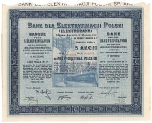 Bank dla Elektryfikacji Polski, Em.3, 5x 1.000 mk 1924