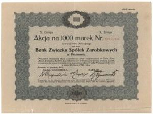 Bank Związku Spółek Zarobkowych w Poznaniu, Em.10, 1.000 mk 1921