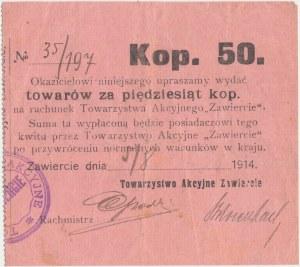 Zawiercie, Tow. Akcyjne, 50 kopiejek 1914