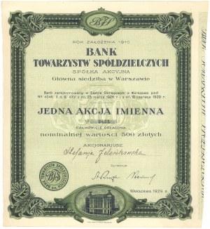 Bank Towarzystw Spółdzielczych, 500 zł 1929