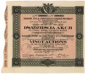 Bank dla Handlu i Przemysłu, Em.10, 20x 1.000 mkp 1923