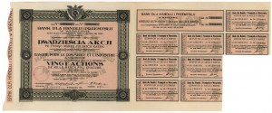 Bank dla Handlu i Przemysłu w Warszawie, Em.10, 20x 1.000 mk 1923
