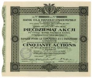 Bank dla Handlu i Przemysłu w Warszawie, Em.11, 50x 1.000 mk 1923