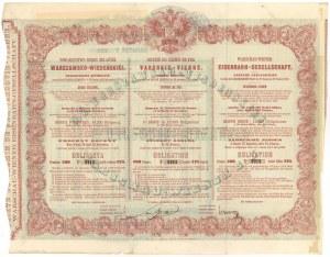 Obligacja Tow. Drogi Żelaznej Warszawsko-Wiedeńskiej - 125 rubli 1860