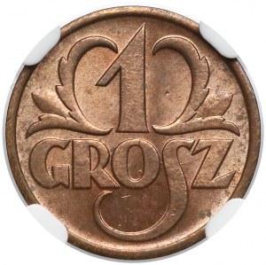 1 grosz 1939 - NGC MS64 RD
