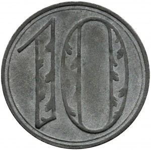 Gdańsk, 10 fenigów 1920 - DUŻE cyfry - odm. 1 - bardzo ładne