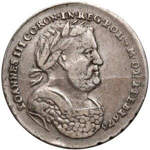 Jan III Sobieski, Żeton koronacyjny AD ISTAM PER HAS 1676 r.