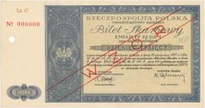 Bilet Skarbowy WZÓR Emisja IV, Seria I - 10.000 złotych 1948
