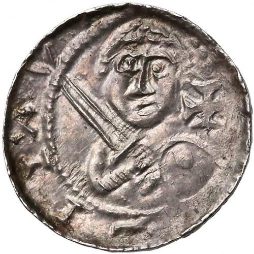 Władysław II Wygnaniec, Denar - Książę i Biskup - Krzyż w polu - PIĘKNY