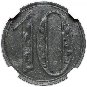 Gdańsk, 10 fenigów 1920 - DUŻE cyfry - odm. 2
